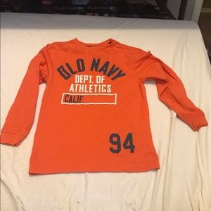 Old navy orange long sleeve shirt